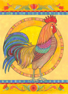 Rooster design by Judy Hand