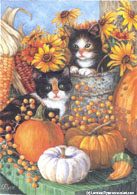 Fall Kittens by Lorraine Ryan