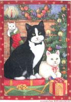 Christmas Tuxedo Cat by Lorraine Ryan