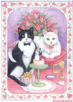 Tuxedo Cat Wedding by Lorraine Ryan