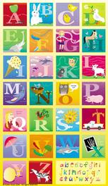 alphabet, illustrated, pictures