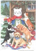 Snow Cat and Pups and Cats by Lorraine Ryan