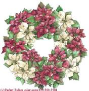 Poinsettia Wreath by Parker Fulton