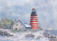 West Quoddy, Lighthouse, winter
