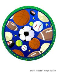 Sports, round, football, tennis, baseball, soccer, hockey