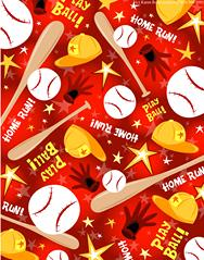 baseball, pattern, red, bats, balls, caps