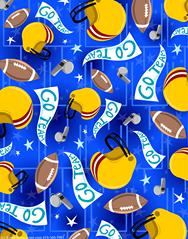 Football, pattern, all-over, go team, whistles, helmets