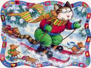 Skiing Cat by Larry Jones