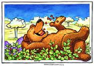 Humorous bear by Larry Jones
