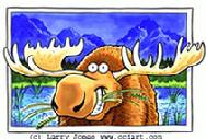 Humorous Moose by Larry Jones