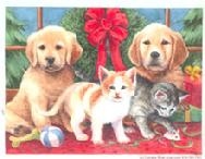 Christmas Pups and Kittens by Lorraine Ryan