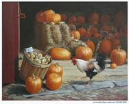 Rooster at the Pumpkin Stand