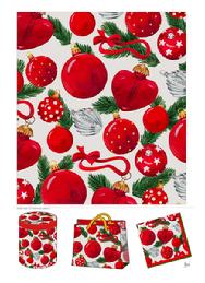Red Christmas Ornament Wrap design by Nina Herold