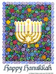 Happy Hanukkah design with menorah