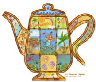 Tropical Teapot by Jessica Sporn
