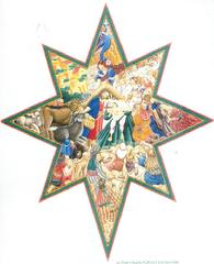 Nativity in a star shape for Christmas