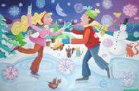 Ice Skaters by Karen Rossi