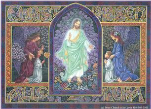 Easter design Christ is Risen Alleluia
