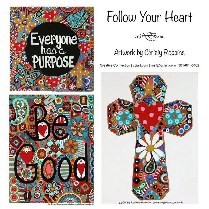 Three Inspirational Designs for modern decor including a beautiful floral cross, Be Good and Everyone Has a Purpose.