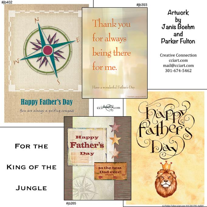 Four Father's Day designs for great dads.