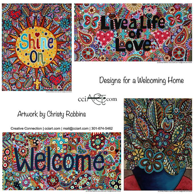 Four Inspirational designs for the home including Shine On and Welcome